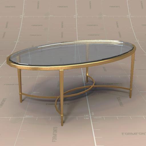 Baker Chloe Coffee Table 3d Model Formfonts 3d Models