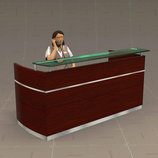 Reception Desk 3d Model Formfonts 3d Models Amp Textures