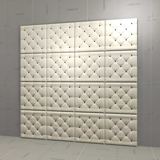Leather Wall Paneling : Leather wall panel d model formfonts models textures