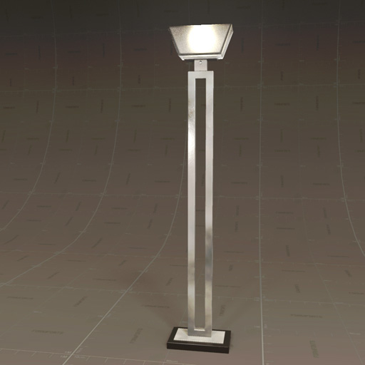 Jerry Antiqued Silver Torchiere Lamp.