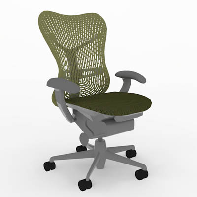 description mirra office chair from herman miller