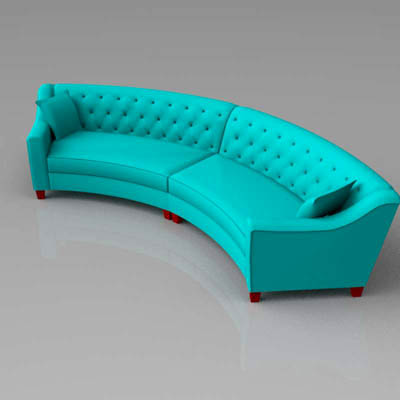 Riemann Tufted Sofa 3D Model