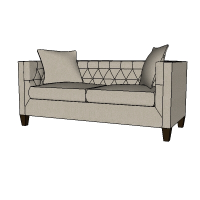 Awesome Lakewood Tufted Sofa 3D Model Formfonts 3D Models Textures Download Free Architecture Designs Grimeyleaguecom