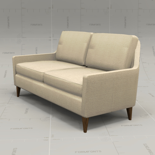 We everett loveseat 3d model formfonts 3d models textures for Furniture in everett