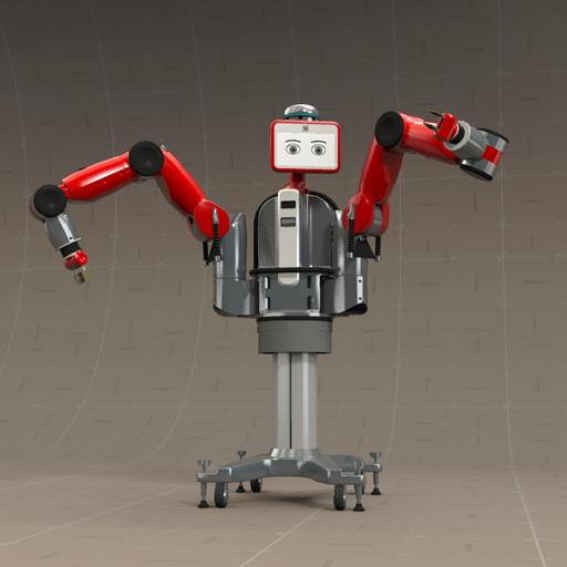Baxter Robot 3D Model - FormFonts 3D Models & Textures