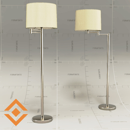 Crate&Barrel Nickel Swing Arm Floor 