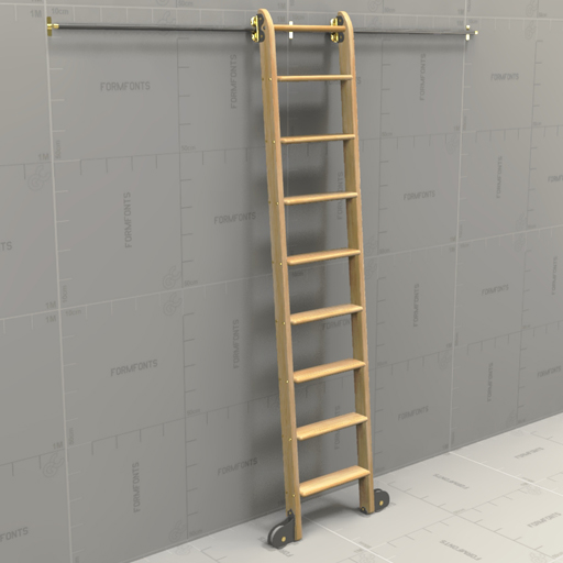 Generic Rolling Ladder 3D Model - FormFonts 3D Models u0026 Textures