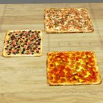 Set of Square Pizzas