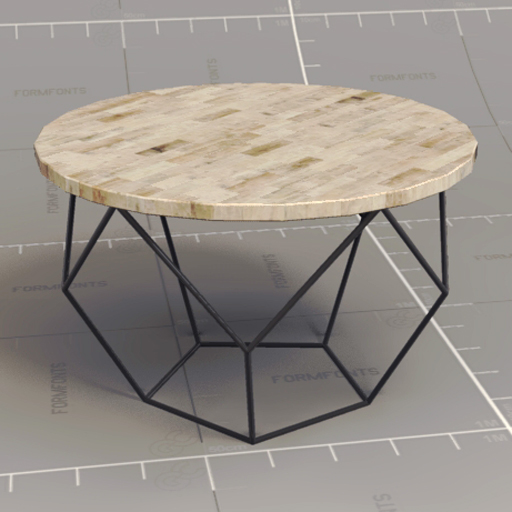 Origami coffee table 3d model formfonts 3d models textures for West elm geometric coffee table