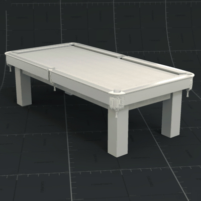 White Pool Table.