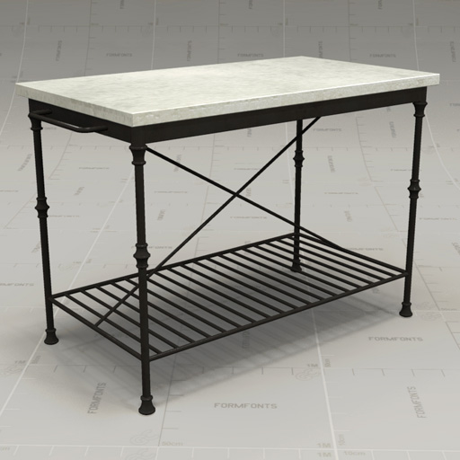 CB French Kitchen Island 3D Model