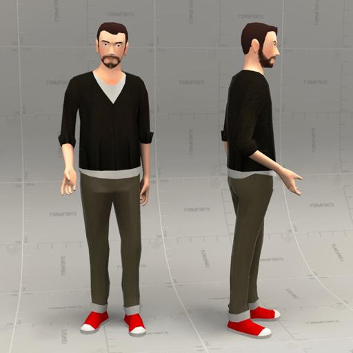 Hipster People 10 3d Model Formfonts 3d Models Textures