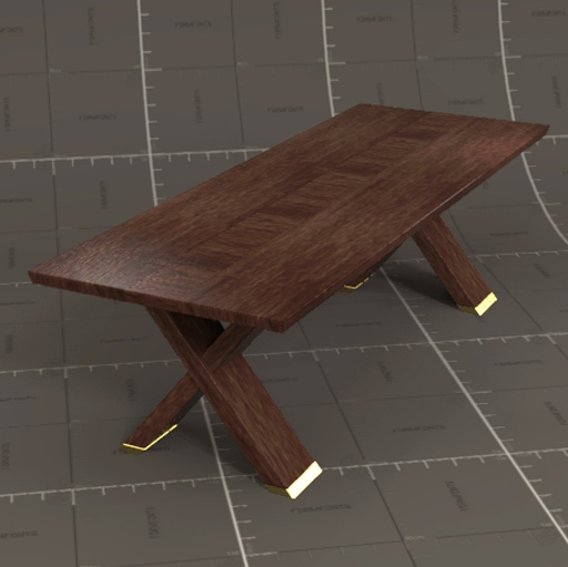 Dining Table Models rhodesian dining table 3d model - formfonts 3d models & textures
