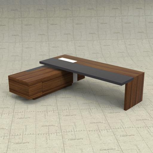 wk eoos desk 3d model formfonts 3d models textures. Black Bedroom Furniture Sets. Home Design Ideas