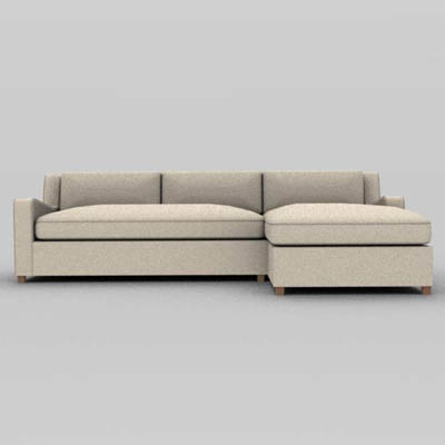 Belgian Slope Arm Modular Sofa, By Restoration H..