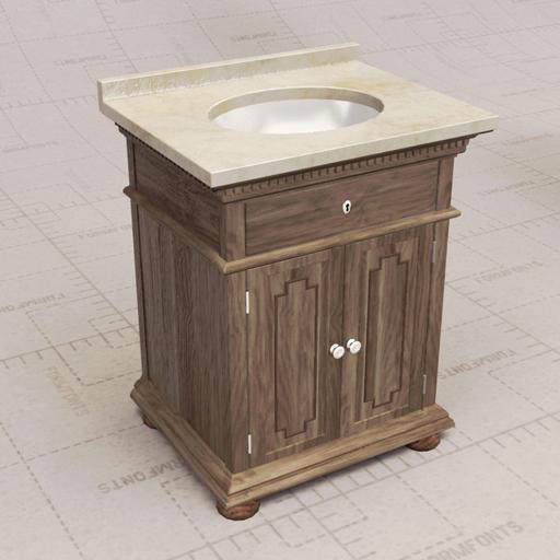 Rh james vanity sink 3d model formfonts 3d models textures for Sketchup bathroom sink