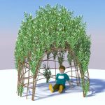 Willow bower in newly-built and 
