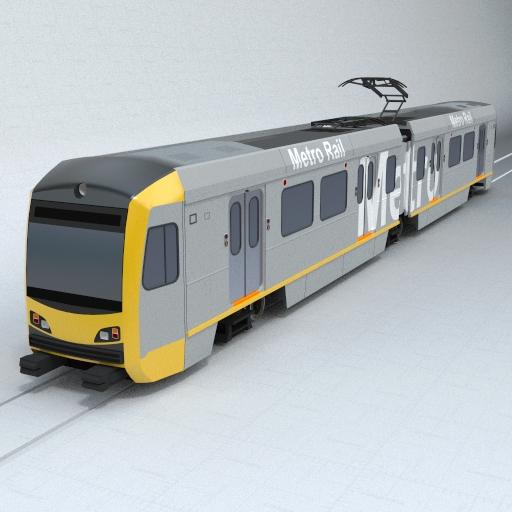 Generic Metro Rail 3d Model Formfonts 3d Models Amp Textures