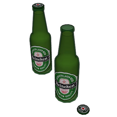 Heineken bottle with classic label.