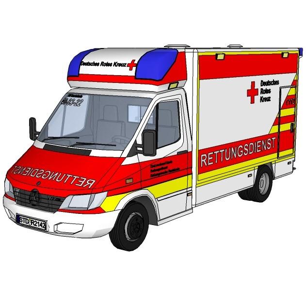 MB Sprinter Ambulance 3D Model - FormFonts 3D Models & Textures