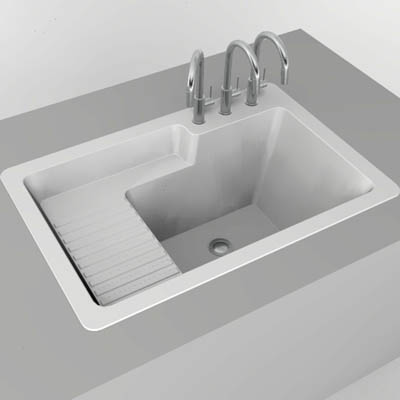 Stone Laundry Sink : Corstone laundry sink 3D Model - FormFonts 3D Models & Textures