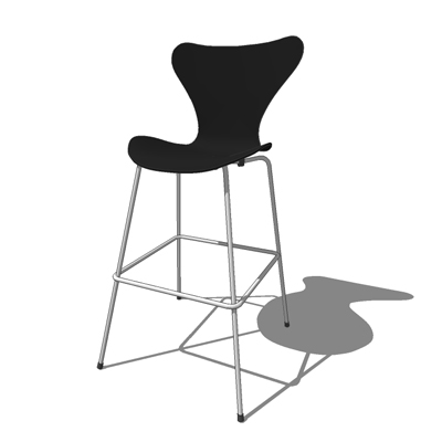 Series 7 barstool by Fritz Hansen (2005), designed....