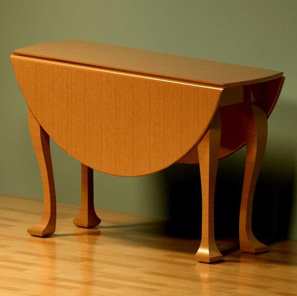gateleg table 3d model formfonts 3d models textures