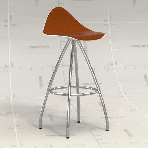Onda counter stool 3d model formfonts 3d models textures - Onda counter stool ...