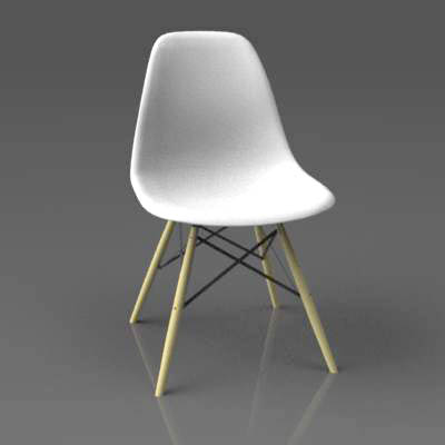 Eames Side Chair Dsw 3d Model Formfonts 3d Models Amp Textures