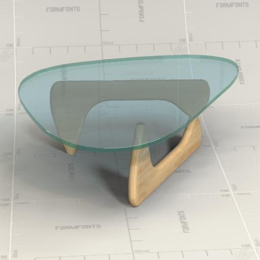 Noguchi Table 3d Model Formfonts 3d Models Textures