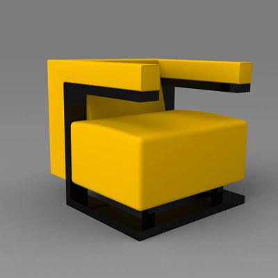 F 51 Bauhaus Chair 3d Model Formfonts 3d Models Amp Textures