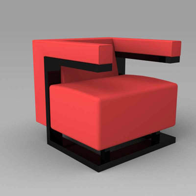 F 51 Bauhaus Chair 3d Model Formfonts 3d Models Amp Textures