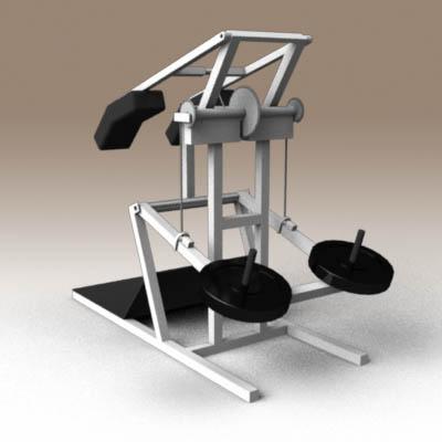 Squat Machine 3d Model Formfonts 3d Models Amp Textures