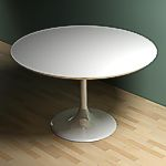 <br>White round dining table - 