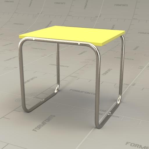 Superior Marcel Breuer Nesting Tables 3D Model