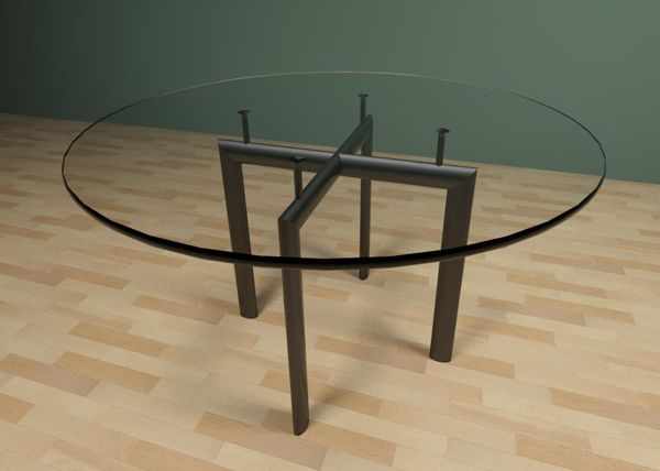 Le Corbusier Tables 3D Model - FormFonts 3D Models & Textures