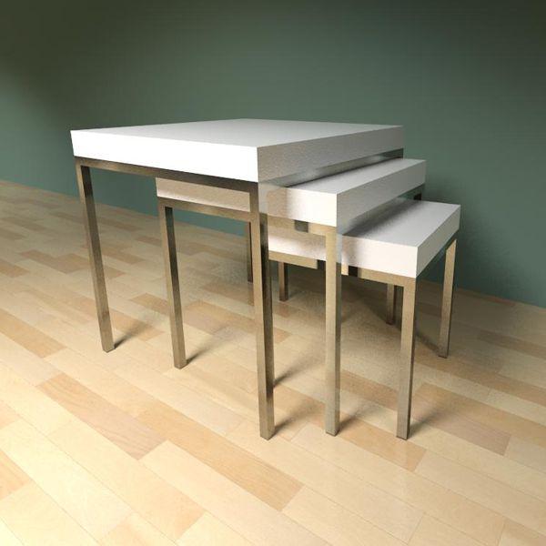 Ikea Klubbo Nested Tables 3d Model Formfonts 3d Models