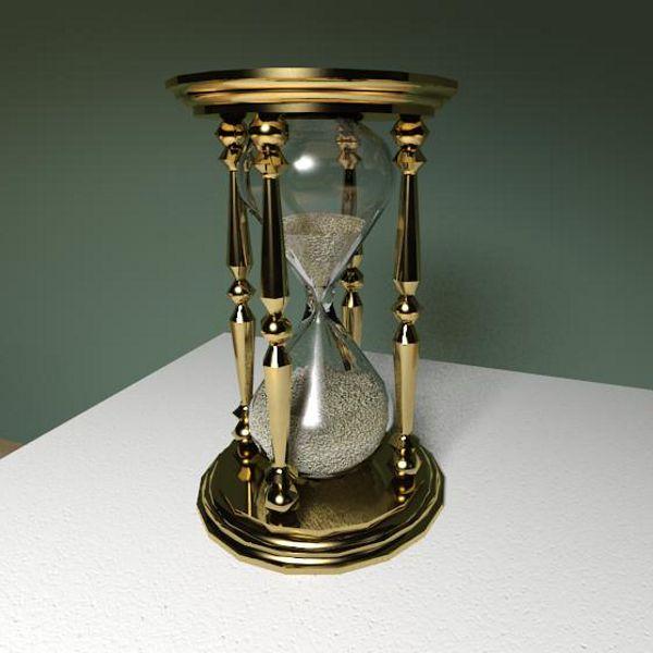 Brass hourglass 3d model formfonts 3d models amp textures