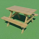 <br>Picnic Table<br><br>Revit 