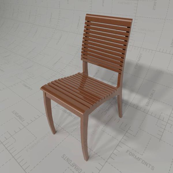 Wood dining chair d model formfonts models textures