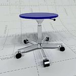 <br>Adjustable Stool with 