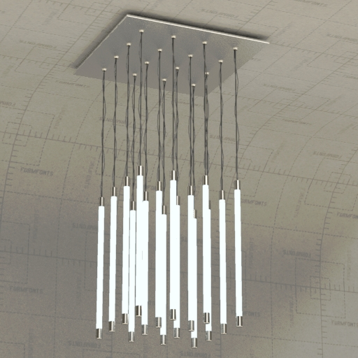 Fluorescent Light Fixture 3D Model - FormFonts 3D Models & Textures