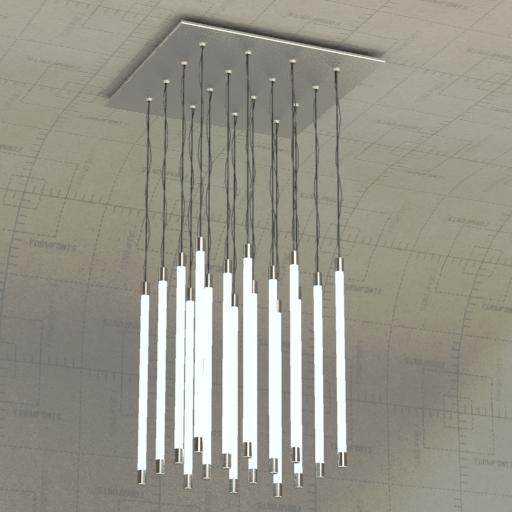Etc Lighting Fixtures Fluorescent Light Fixture 3d
