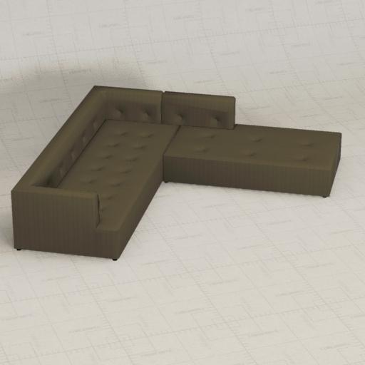 Preston Sofa 3d Model Formfonts 3d Models Textures