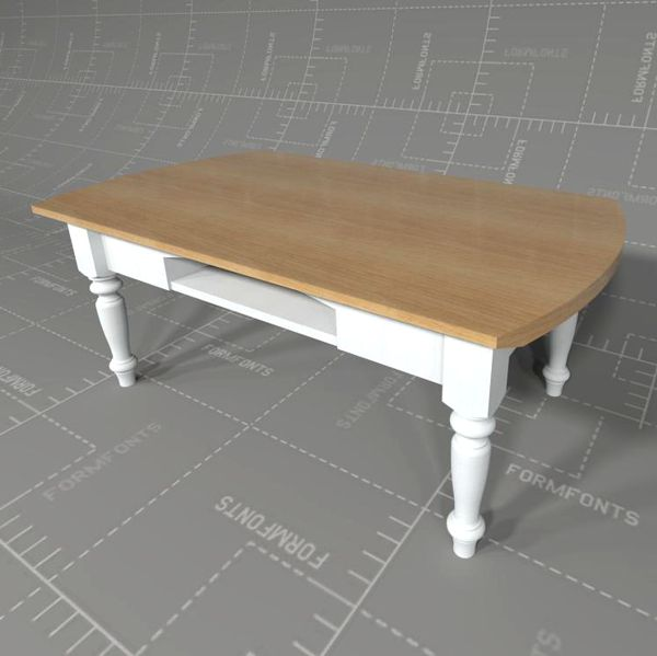 Country Style Coffee Table 3d Model Formfonts 3d Models Textures