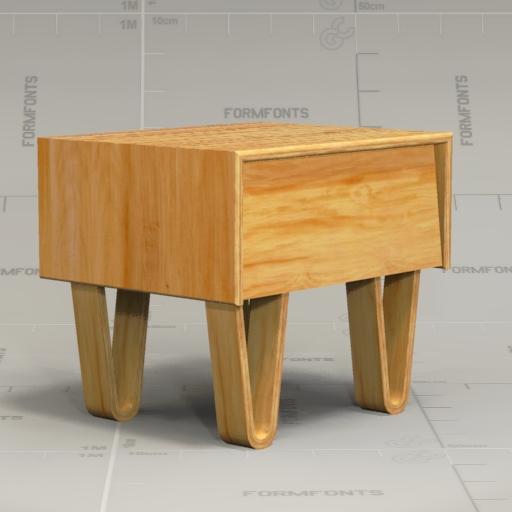 Modernica Bedside Table 3d Model Formfonts 3d Models