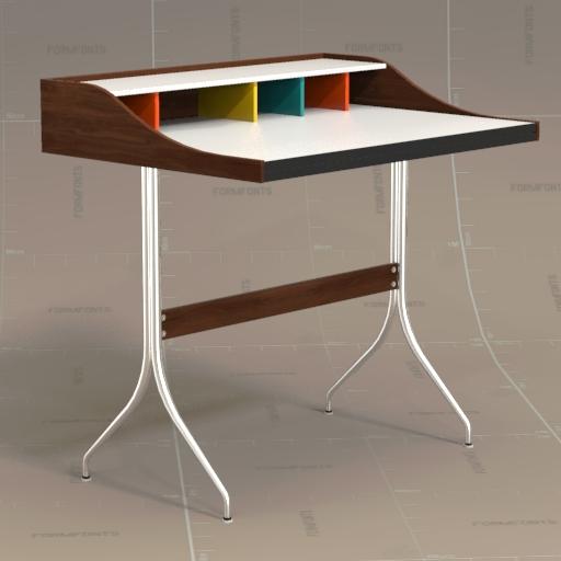Hive Nelson Swag Leg Desk 3D Model