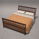 Wooden Trellis Bed