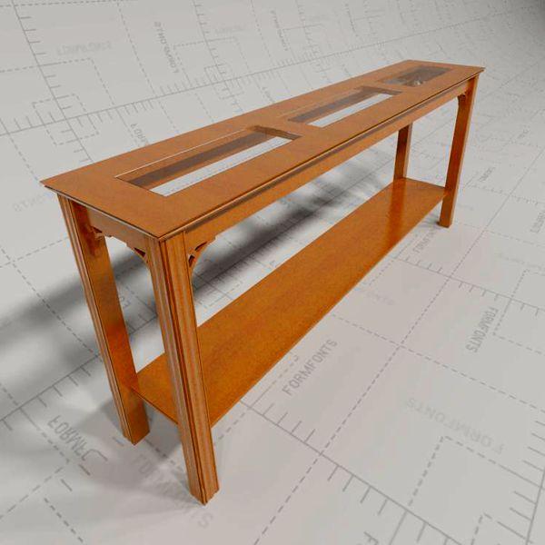 Sofa table 3d model formfonts 3d models textures for Sofa table revit