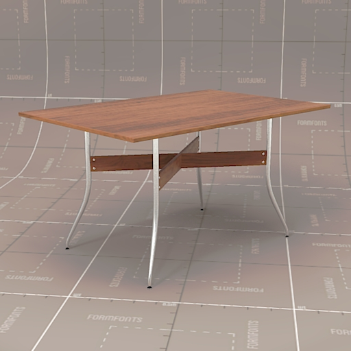 Nelson swag leg dining table 3d model formfonts 3d for Nelson swag leg table